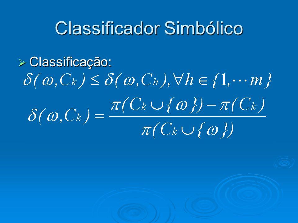Classificador Simbólico  Classificação: