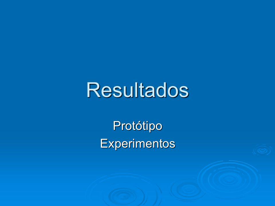Resultados ProtótipoExperimentos