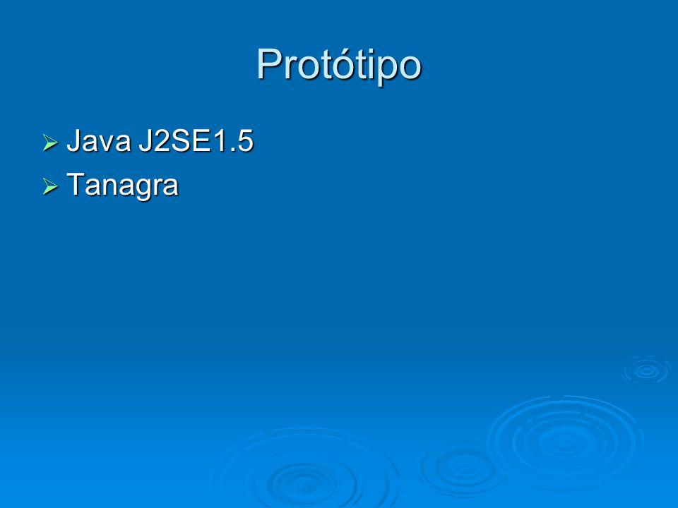 Protótipo  Java J2SE1.5  Tanagra