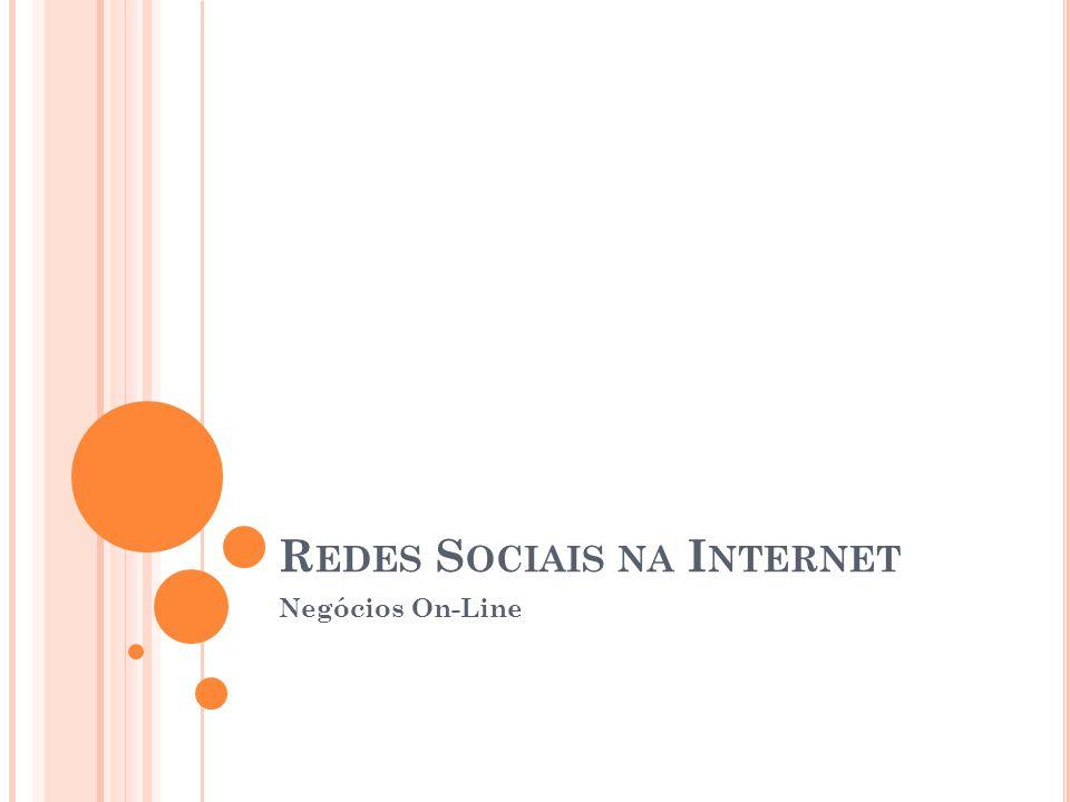 R EDES S OCIAIS NA I NTERNET Negócios On-Line