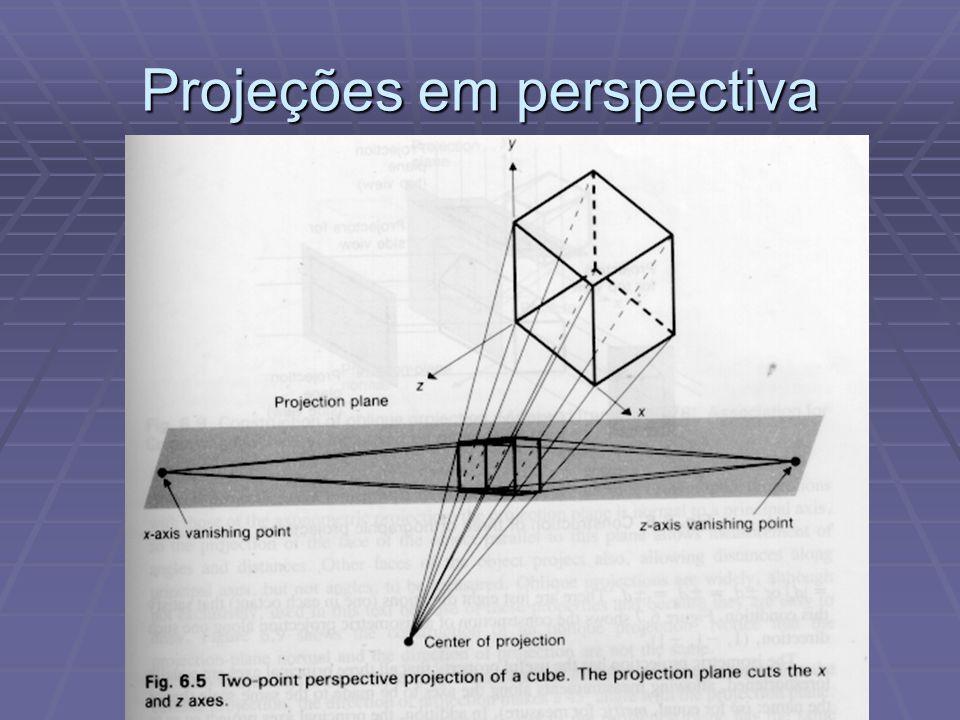 Modelos de Vista 3D  Outros algoritmos, como o de Cyrus-Beck e o de Liang-Barsky utilizam retas paramétricas e o produto escalar para determinação de visibilidade de cada segmento.