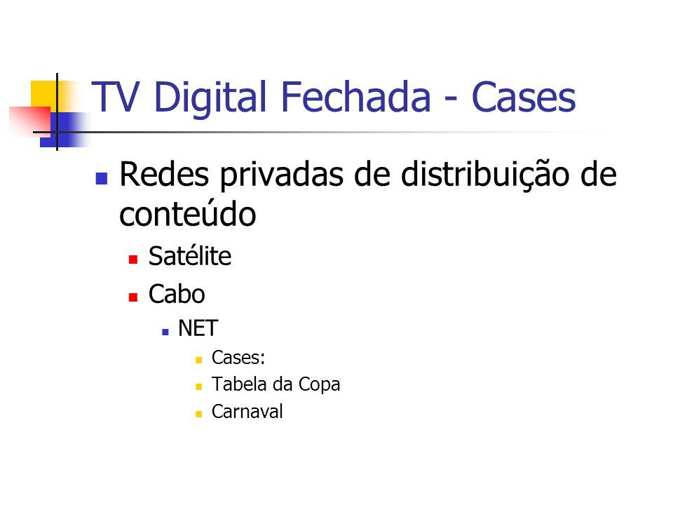 TV Digital Fechada - Cases Redes privadas de distribuição de conteúdo Satélite Cabo NET Cases: Tabela da Copa Carnaval