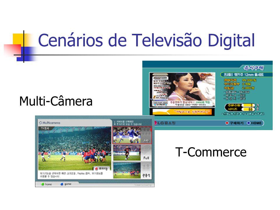 Cenários de Televisão Digital T-Commerce Multi-Câmera