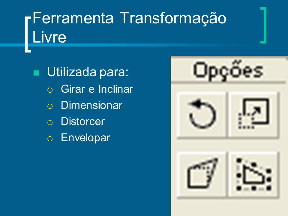 Ferramenta Transformação Livre Utilizada para:  Girar e Inclinar  Dimensionar  Distorcer  Envelopar