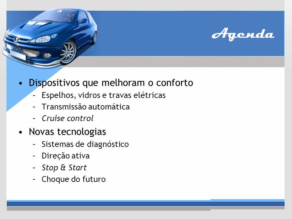 ABS (Anti-Lock Braking System) O ABS funciona liberando a roda travada durante uma frenagem Possui 4 componentes principais: –Sensores de velocidade –Bomba –Válvulas –Controlador