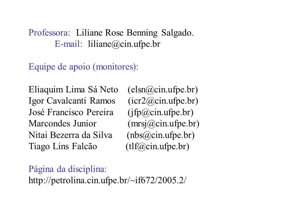 Professora: Liliane Rose Benning Salgado.