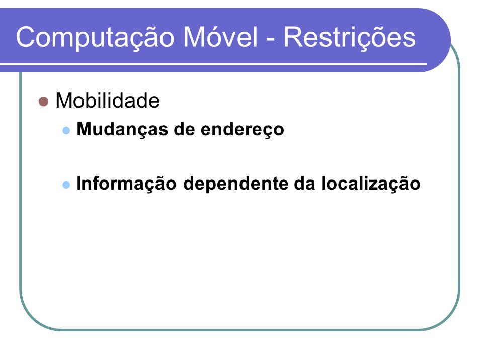 Modelo MOST Aplicações de tempo real Atualização dos dados representando a posição em função do tempo Atributo dinâmico A.value A.updatetime A.function