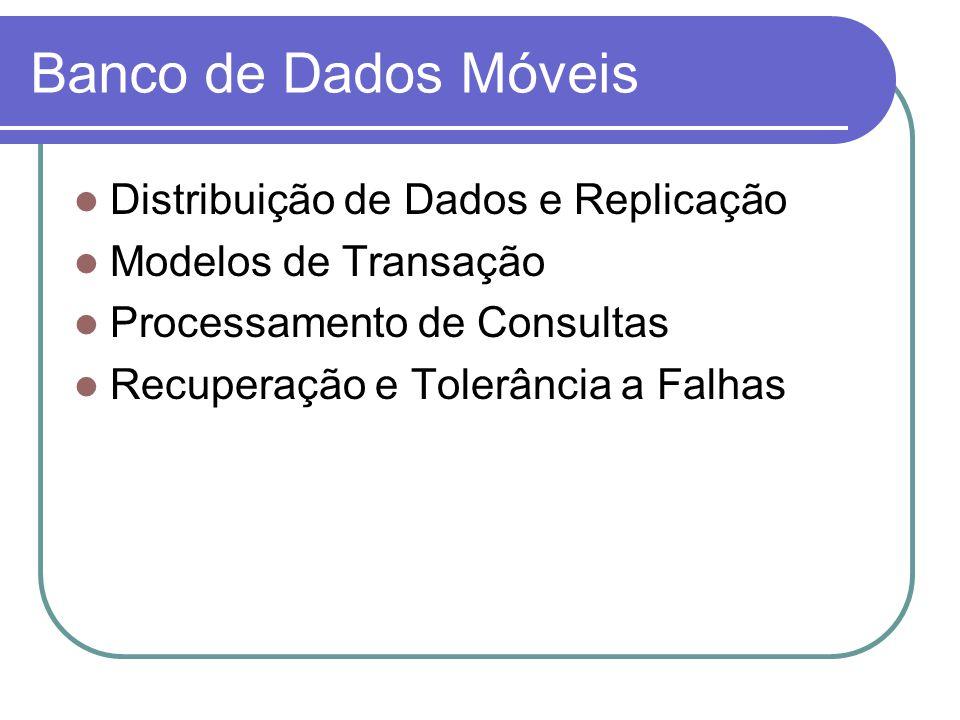 Gerenciamento de Banco de Dados 1/5 Replicação de dados Replicação baseada em sessão Replicação baseada em mensagens Replicação baseada em conexão Sincronização Integridade da localidade Em duas camadas Hierárquico