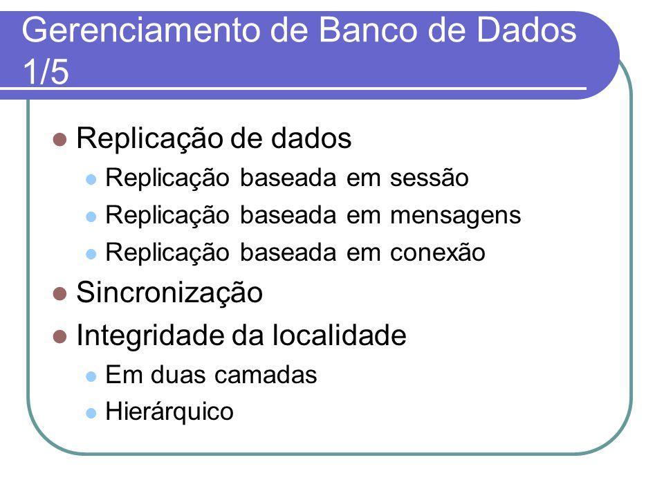 Gerenciamento de Banco de Dados 2/5 Difusão de dados e caching Paradigmas de acesso aos dados móveis.