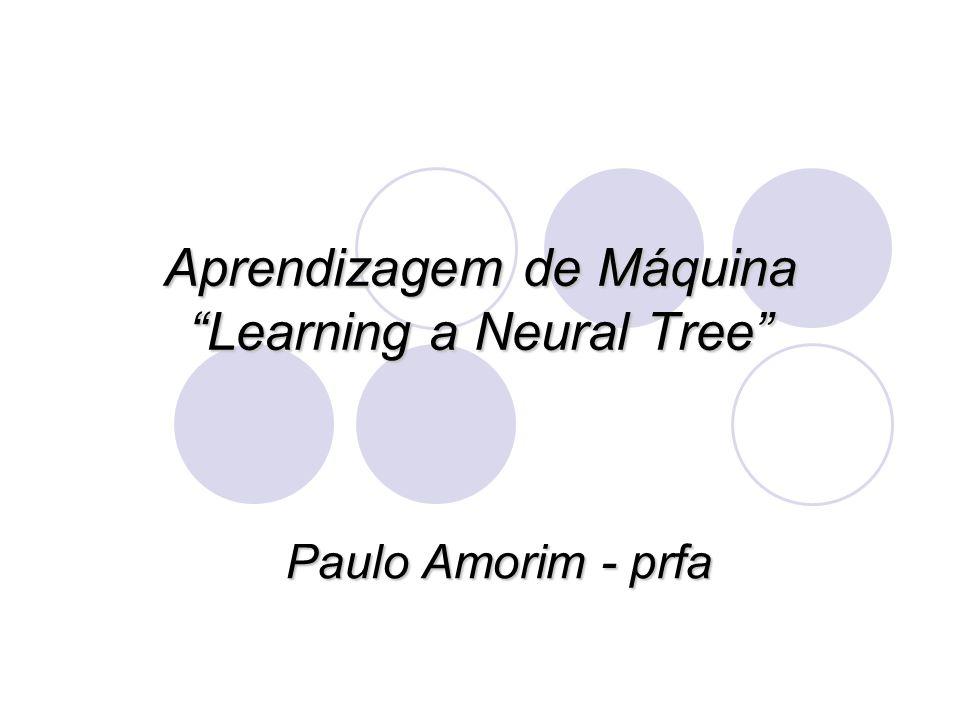 Aprendizagem de Máquina Learning a Neural Tree Paulo Amorim - prfa
