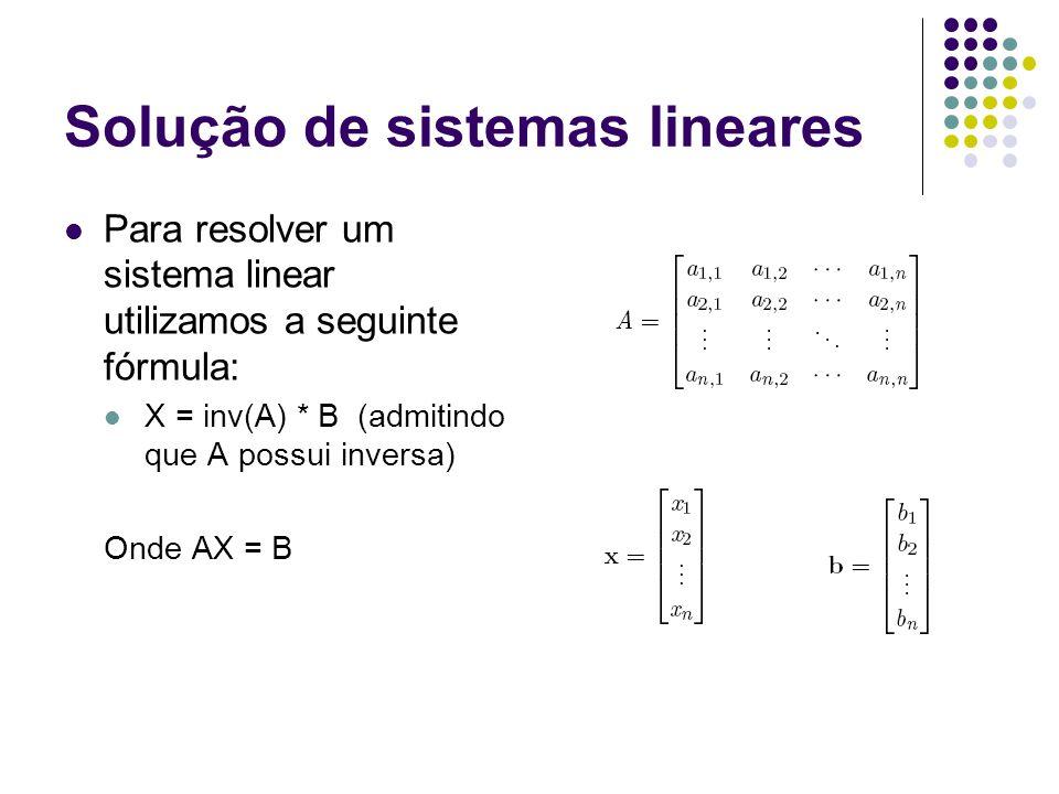 Verificação do exercício da aula passada B.31 Considere o seguinte sistema de equações: X 1 + x 2 + x 3 = 1 X 1 + 2x 2 + 3x 3 = 3 X 1 – x 2 = -3 Utilize o novo método para encontrar a solução:.