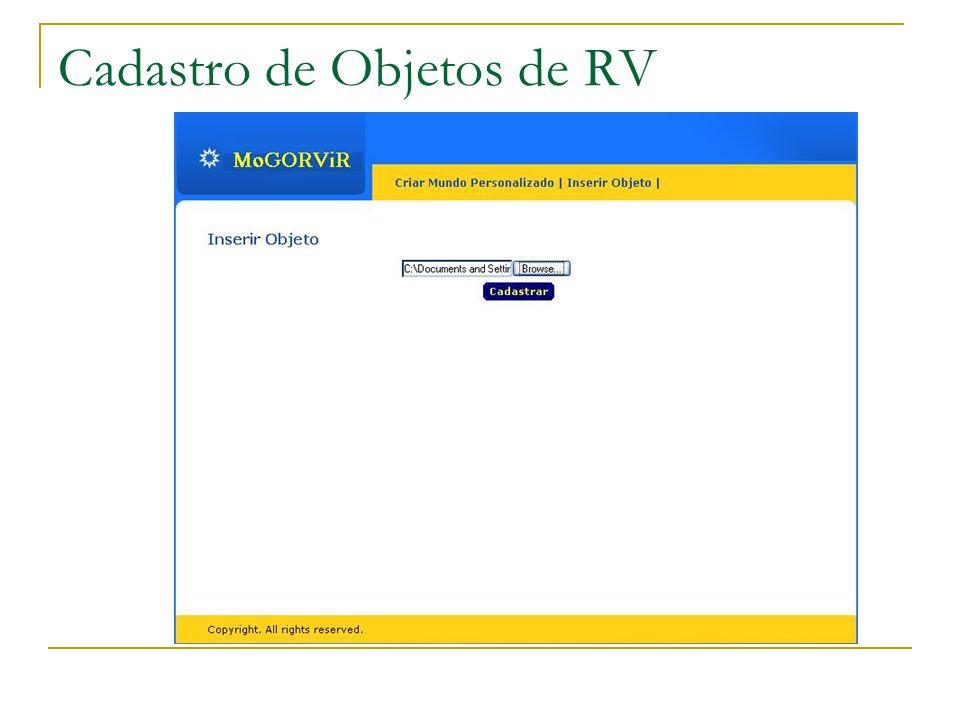 Cadastro de Objetos de RV