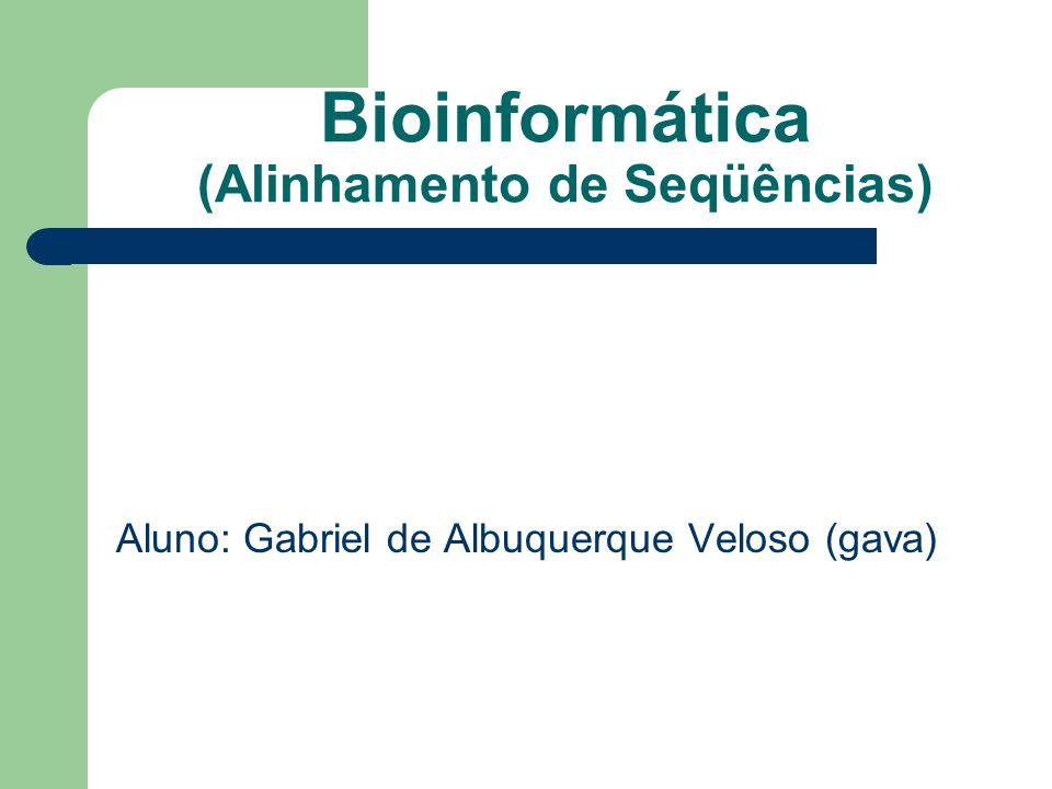 Bioinformática (Alinhamento de Seqüências) Aluno: Gabriel de Albuquerque Veloso (gava)