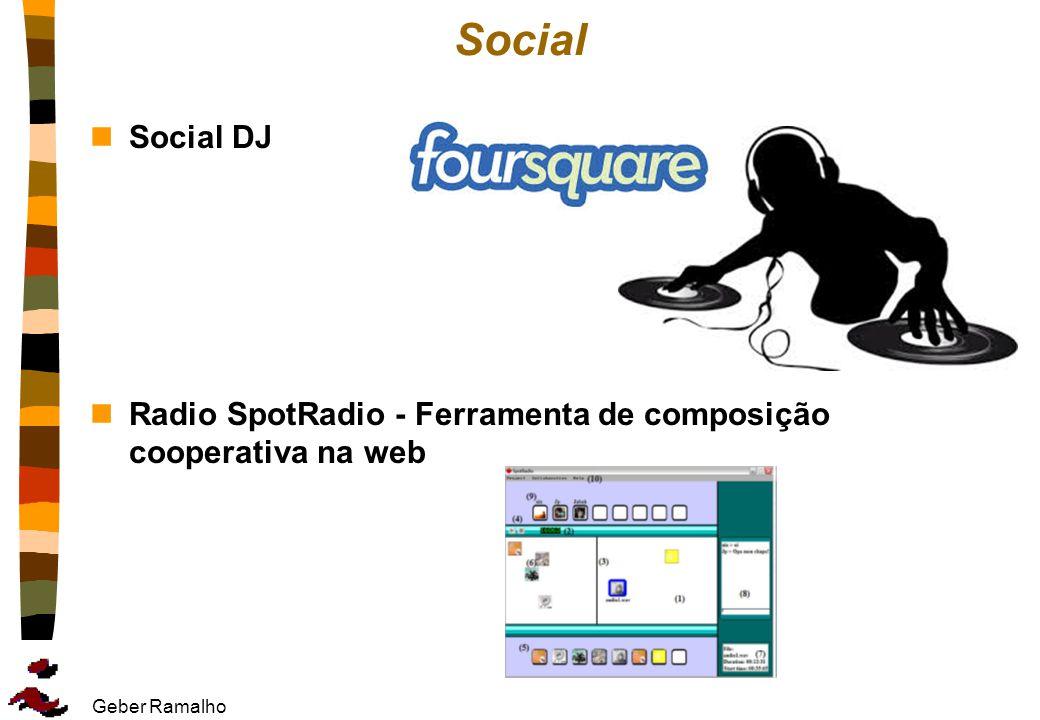 Geber Ramalho Social nSocial DJ nRadio SpotRadio - Ferramenta de composição cooperativa na web