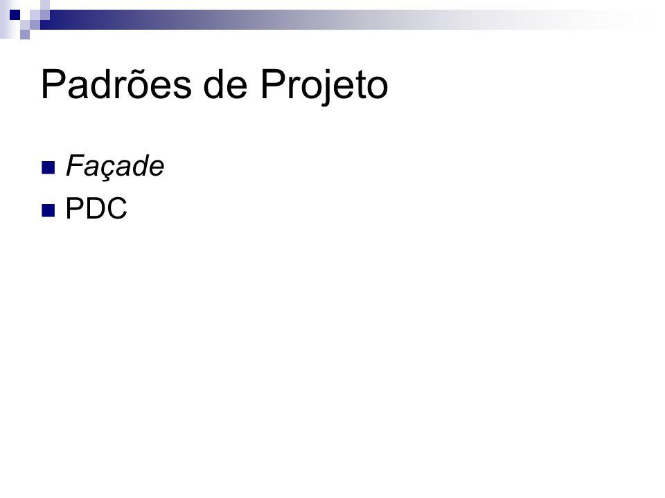 Padrões de Projeto Façade PDC