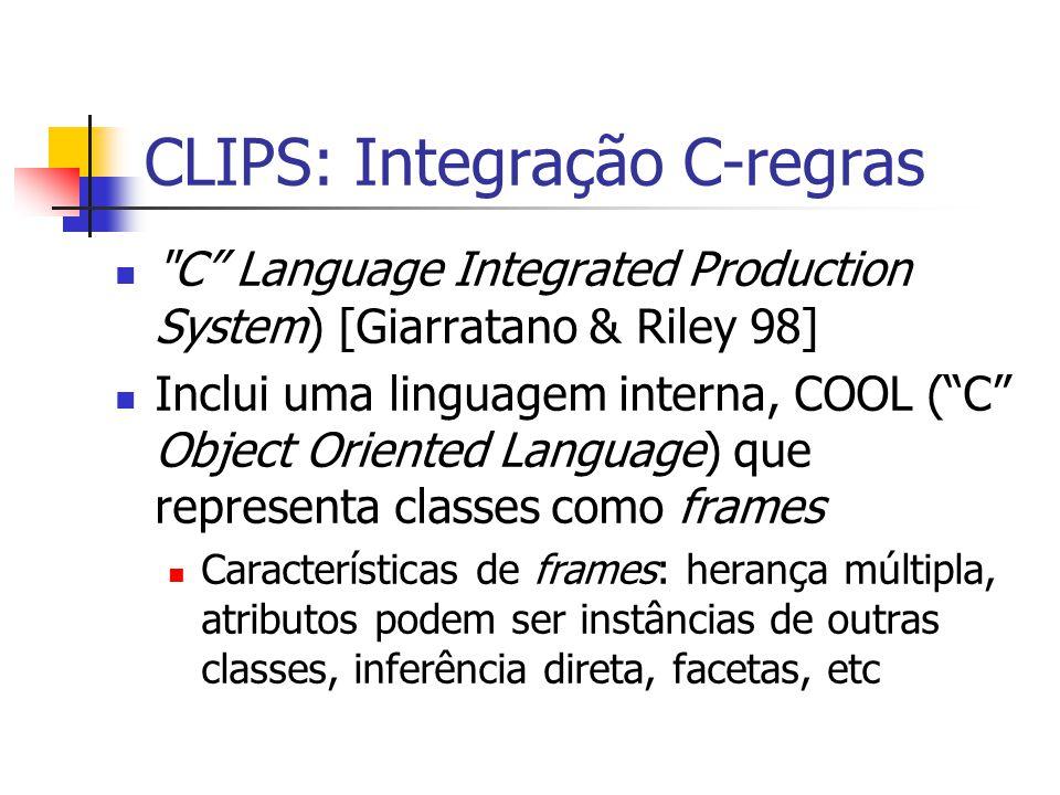 CLIPS: Integração C-regras