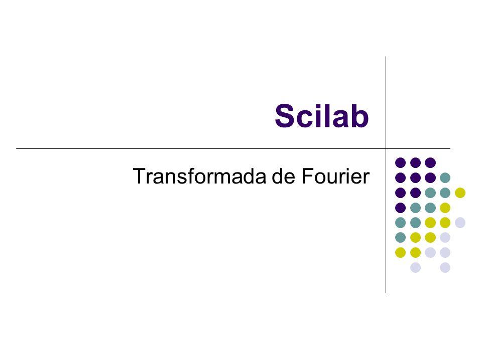 Scilab Transformada de Fourier