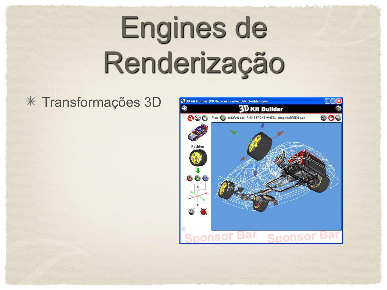 Engines de Renderização Transformações 3D