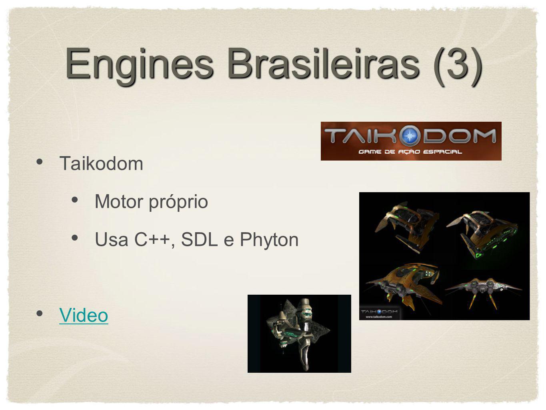Engines Brasileiras (3) Taikodom Motor próprio Usa C++, SDL e Phyton Video