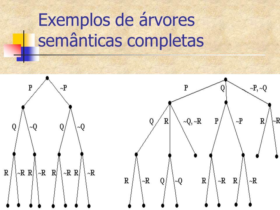 Exemplos de árvores semânticas completas