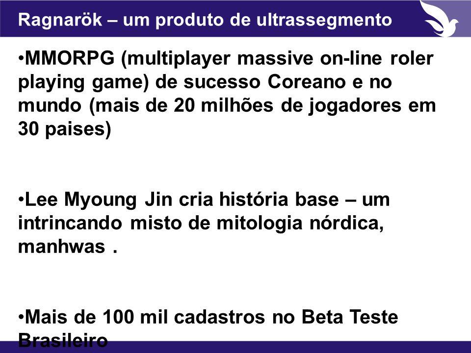 Ragnarök – um produto de ultrassegmento MMORPG (multiplayer massive on-line roler playing game) de sucesso Coreano e no mundo (mais de 20 milhões de j