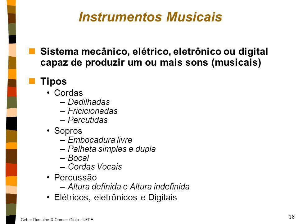Geber Ramalho & Osman Gioia - UFPE 18 Instrumentos Musicais nSistema mecânico, elétrico, eletrônico ou digital capaz de produzir um ou mais sons (musi