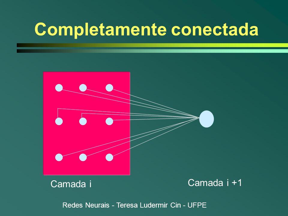 Redes Neurais - Teresa Ludermir Cin - UFPE Completamente conectada Camada i Camada i +1