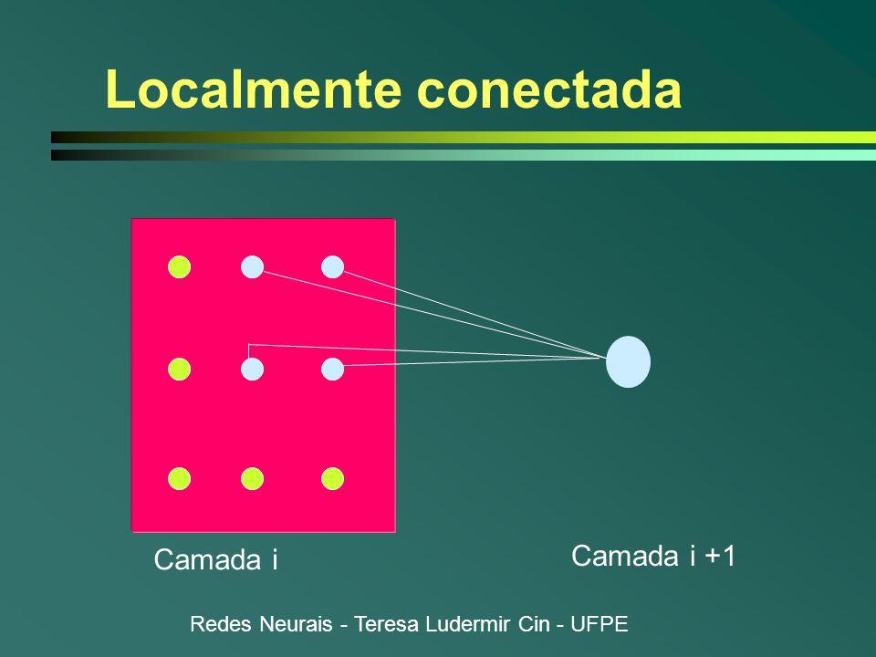 Redes Neurais - Teresa Ludermir Cin - UFPE Localmente conectada Camada i Camada i +1