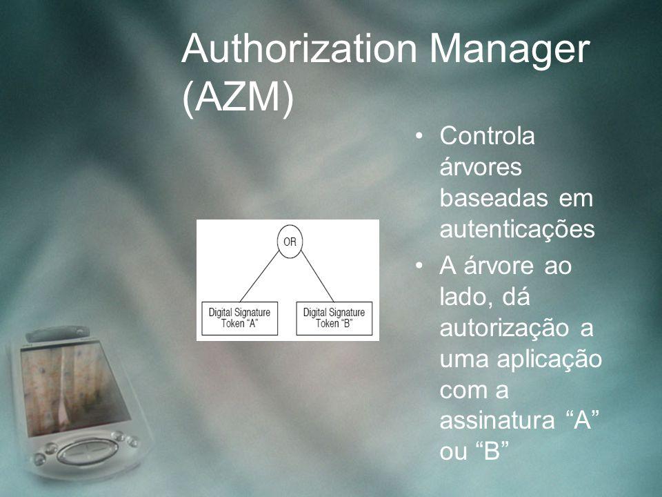 """Controla árvores baseadas em autenticações A árvore ao lado, dá autorização a uma aplicação com a assinatura """"A"""" ou """"B"""""""