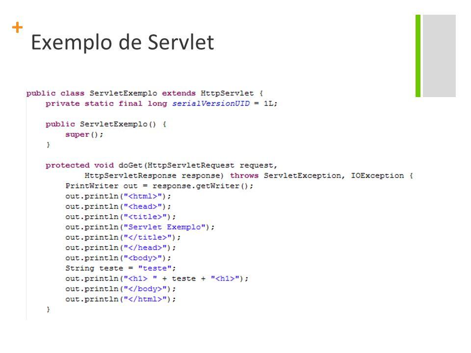 + Exemplo de Servlet