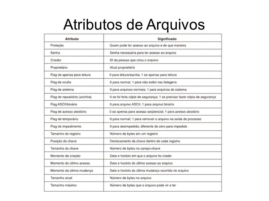 Atributos de Arquivos