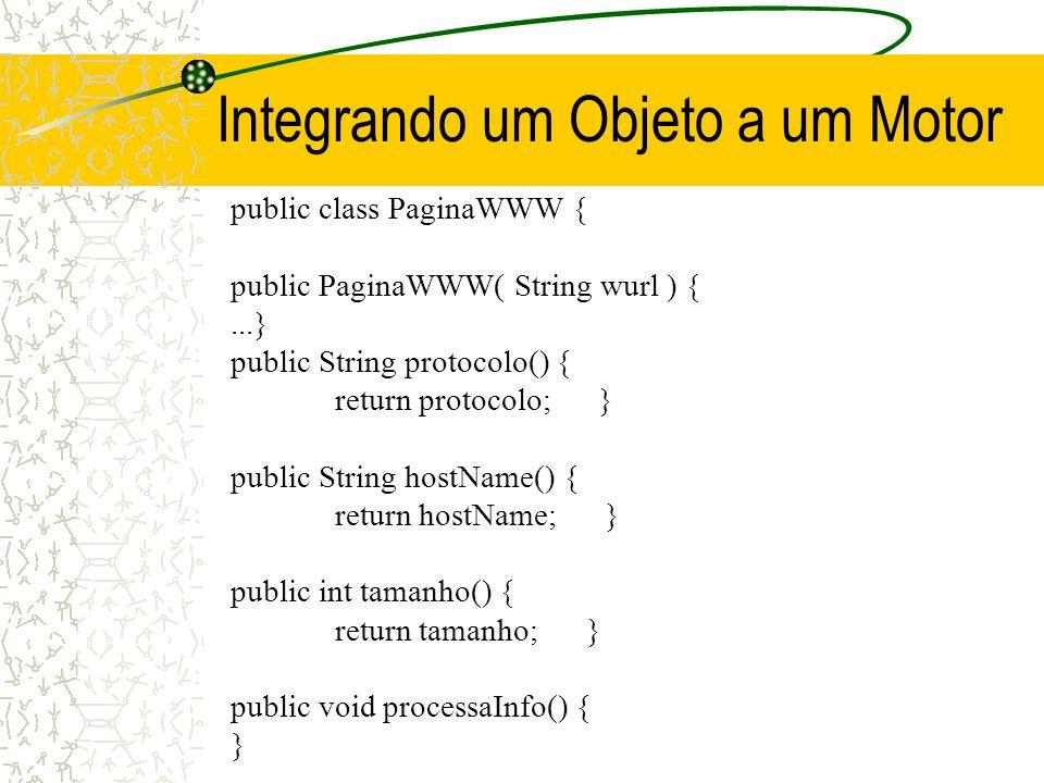 Conseqüências para EOOPSs Embedded Object Oriented Production Systems [Pachet 95]:Motores de inferência integráveis a objetos Comunicação p2p deve ser explícita (não enviar objetos!) Separar bem o que é declarativo e procedural –Conhecimento misturado com código (objetos e métodos) não pode ser traduzido ou reusado –Inicializar objetos no código procedural, por métodos dispostos pelo motor de inferência –Evitar ao máximo executar métodos dentro de BCs, mas se for necessário, manter uma BC pequena, exclusiva para isso –Na BC, privilegiar funções do motor às da linguagem hospedeira do motor, apesar de serem menos eficientes