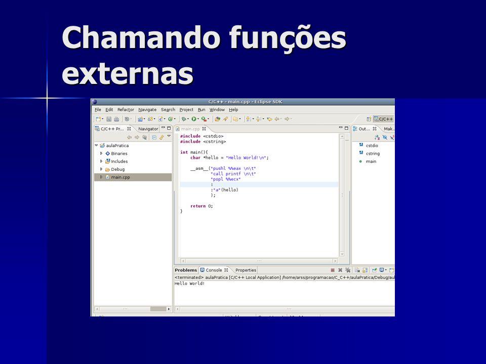 Chamando funções externas