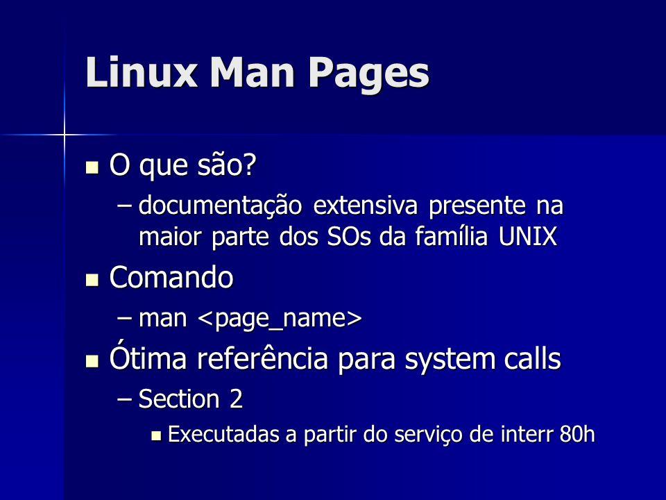 Linux Man Pages O que são.O que são.