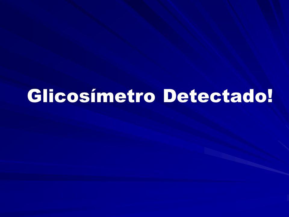 Glicosímetro não detectado... Conecte o glicosímetro no aparelho OK
