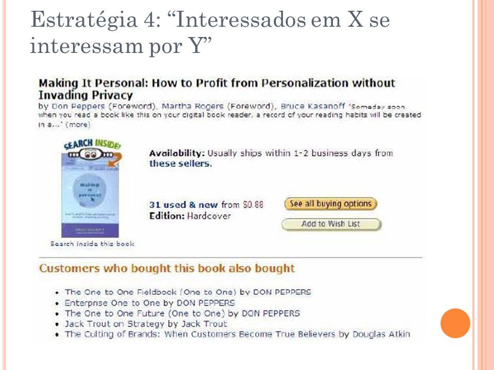 """Estratégia 4: """"Interessados em X se interessam por Y"""""""