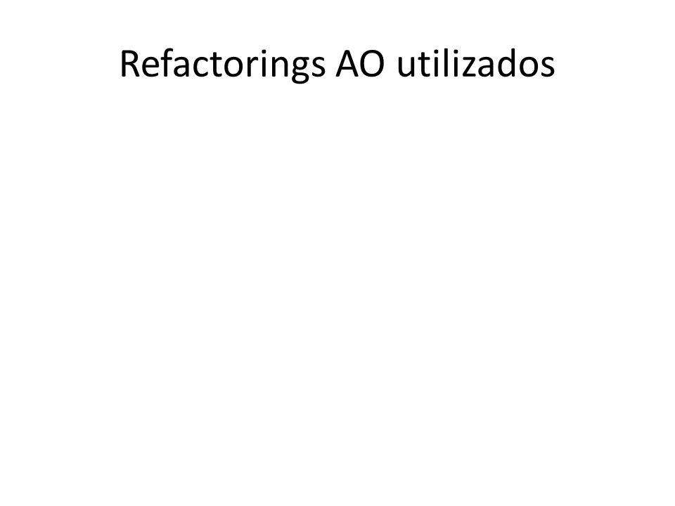 Refactorings AO utilizados