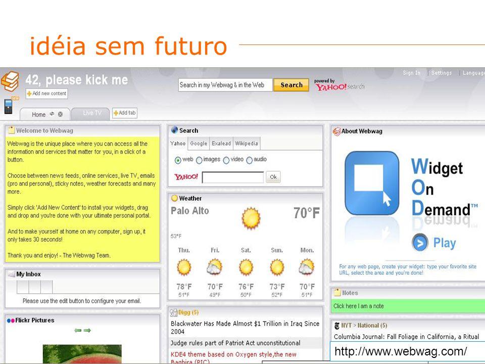 idéia sem futuro http://www.webwag.com/