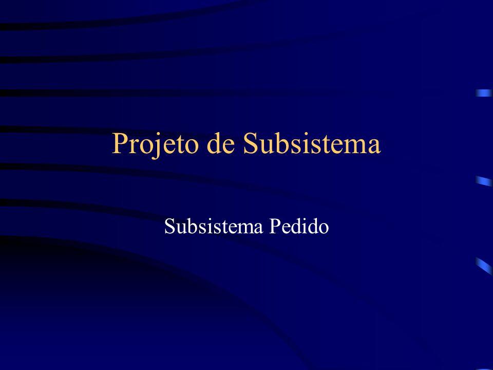 Projeto de Subsistema Subsistema Pedido