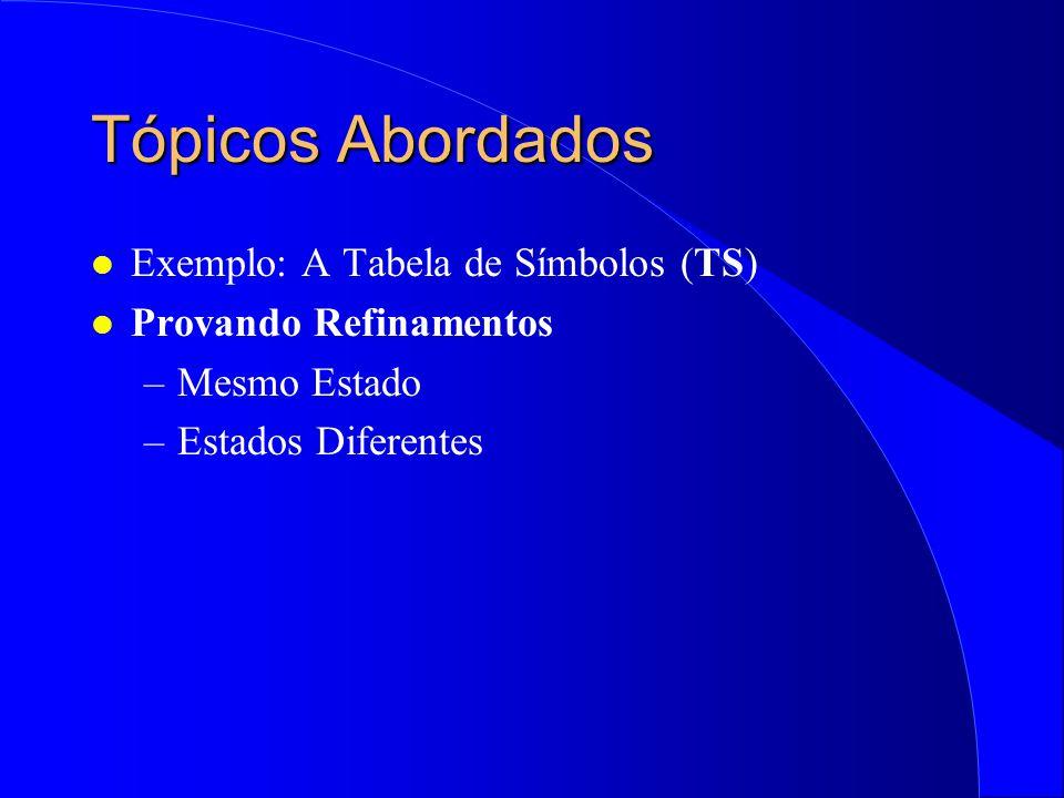 Curso Prático de Métodos Formais Refinamentos de Especificações em Z (Alexandre Mota e Augusto Sampaio)