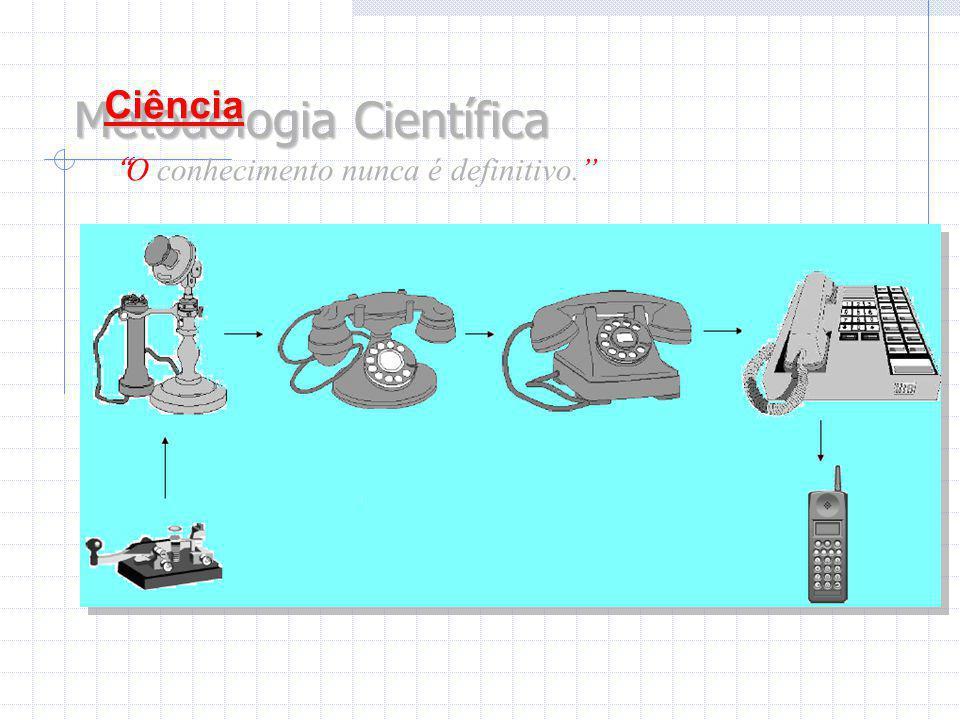 """Metodologia Científica Ciência """" O conhecimento nunca é definitivo."""""""