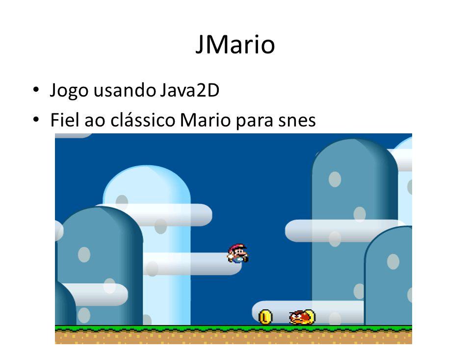 JMario Jogo usando Java2D Fiel ao clássico Mario para snes