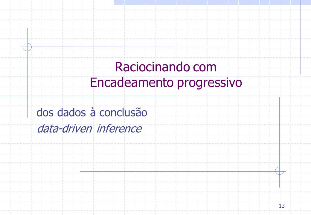 13 Raciocinando com Encadeamento progressivo dos dados à conclusão data-driven inference