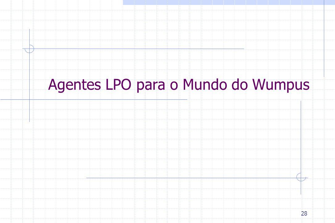 28 Agentes LPO para o Mundo do Wumpus