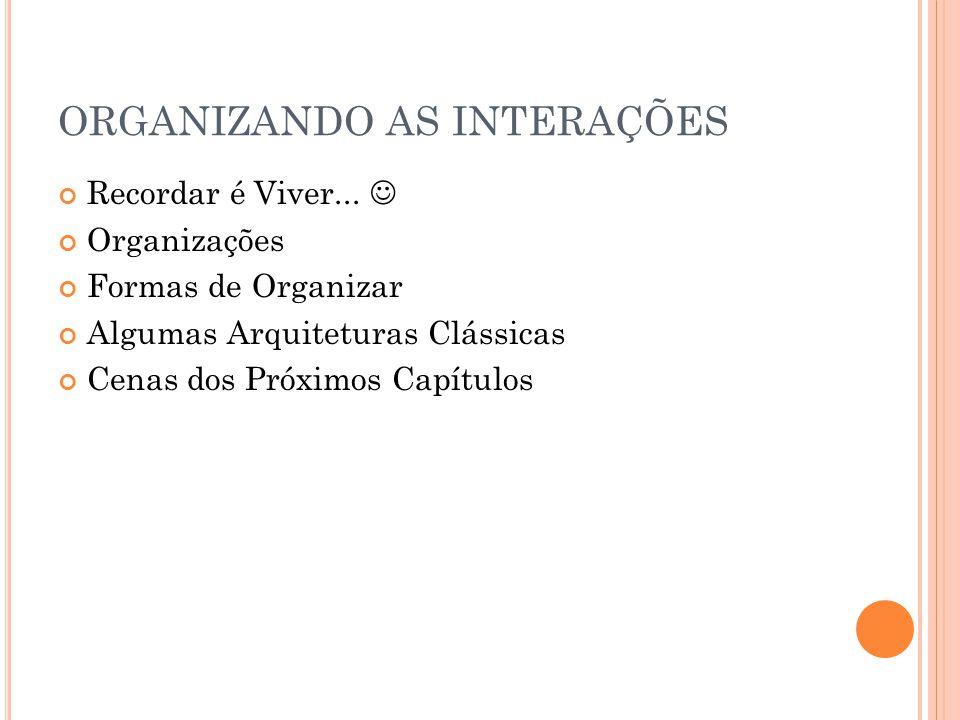 A ALAADIN Agente Papel Grupo É membro assume contém Não importa a Arquitetura Individual Tem o conjunto de Papéis Necessários para Funcionar Conjunto de Responsa bilidades dos agentes