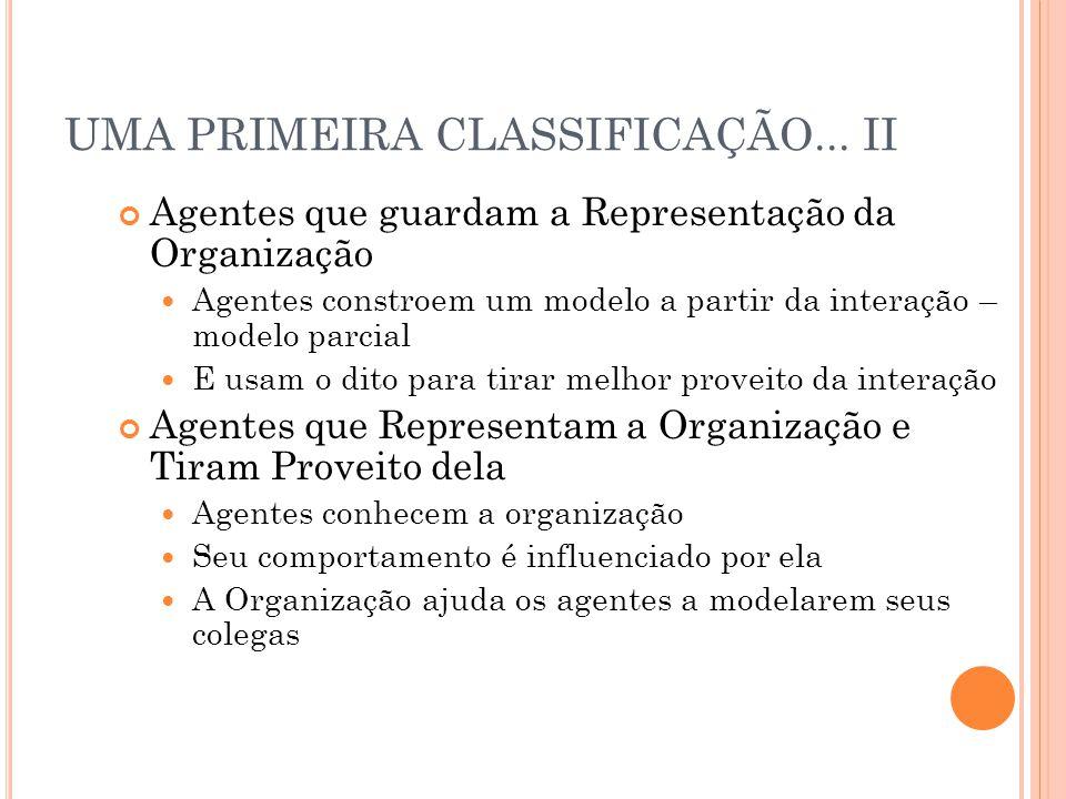 UMA PRIMEIRA CLASSIFICAÇÃO...