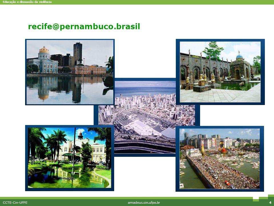 Educação e dissuasão da violência CCTE-Cin-UFPEamadeus.cin.ufpe.br4 Interface simples recife@pernambuco.brasil