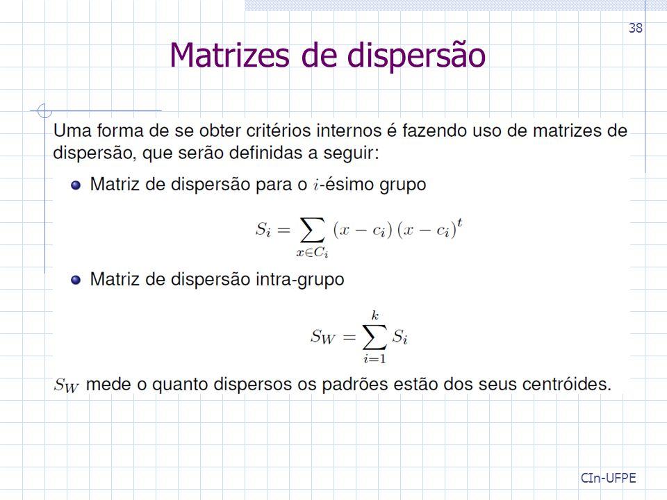 CIn-UFPE 38 Matrizes de dispersão