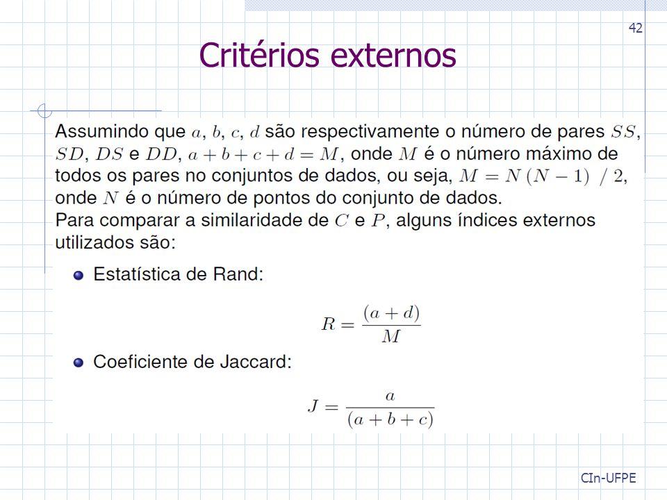 CIn-UFPE 42 Critérios externos