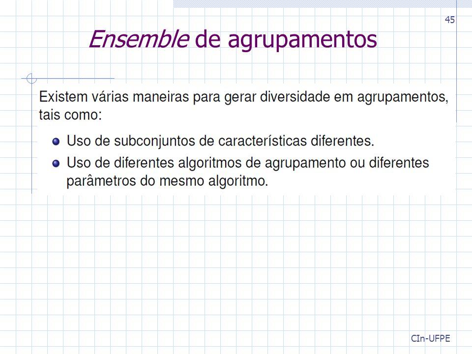 CIn-UFPE 45 Ensemble de agrupamentos